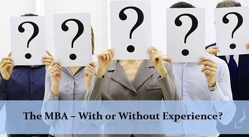 Can I go to graduate school and get my MBA without work experience?